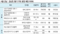 2분기 강남·강남권 택지지구서 8300여가구 '분양 풍년'