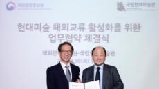 [헤럴드포토] '현대미술 해외 교류 활성화를 위한 업무협약 체결'
