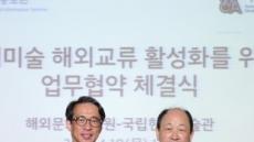 [헤럴드포토] '업무협약 체결하는 해외문화홍보원 김태훈 원장과 국립현대미술관 윤범모 관장'