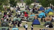 한강서 텐트 사방 닫아두면 과태료 100만원 물린다