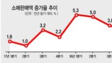 공허한 '소주성'…소매판매액 증가율 7분기만에 최악