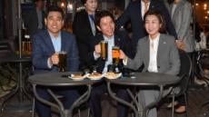 여야 3당 원내대표 맥주회동 시작…국회 정상화 논의