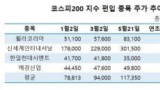 코스피200 예약종목은 대박예비주…올해 48% 상승