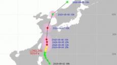 태풍 링링 예상 경로, 타이완 거쳐 6일 제주 인근 해상 지나