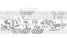 1500년전 토기서 신라 행렬도 첫 발견