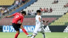 한국, 멕시코와 0-0(전반종료)…최민서 골대 강타