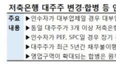"""[규제에 발목 묶인 M&A③] 쌓여가는 저축銀 매물…""""대주주 규제, 산업 재편 막는다"""""""