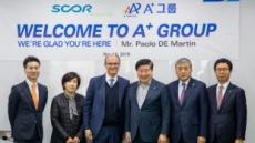 A+에셋, 글로벌 재보험사 스코르 글로벌라이프와 상호협력