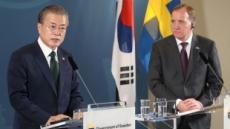 """문대통령, 18일 한-스웨덴 정상회담…""""전략적 소통 강화"""""""