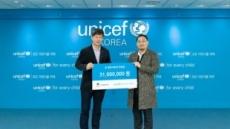 채플린게임, 수익기부 캠페인 전액 유니세프에 전달