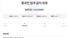 우한폐렴에 한국發 금중령..국민청원게시판 20만 돌파