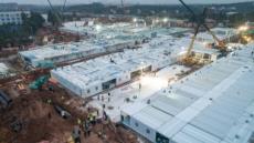중국, '우한 응급병원' 3일 만에 완공…내일부터 진료