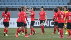 한국 여자축구 대표팀, '조 1위로 플레이오프 진출…'
