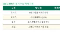 """""""2019년 국내 상업용 부동산 투자 규모 역대 최대"""""""