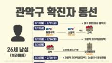 서울 관악·경기 과천·경남 밀양 확진자 동선 [한눈 그래픽]