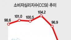 3월 소비심리 역대 최대폭 하락