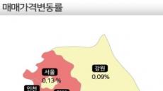 고개 숙인 강남 집값…인천·경기·세종·대전은 '껑충'