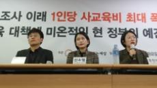 """""""자사고 가려는 중학생 70%, 월 사교육비 100만원↑"""""""