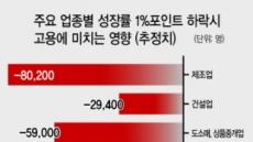 """""""성장률 1%P 하락땐 취업자 45만명 감소"""""""