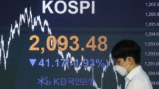 외국인·기관 동반 매도에 코스피 1.93% 하락 마감