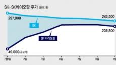 """자회사 '따상'때 급락 SK…증권가 """"저평가"""""""