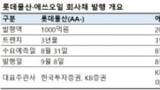 '큰 손의 귀환'…롯데물산·에쓰오일 채권 발행 추진
