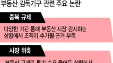 """'뜬금포' 부동산 감독기구…""""거래위축 부를 것"""""""