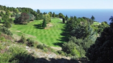 [백상현의 세계 100대 골프 여행 - 모나코 몬테 카를로 골프클럽]'해발 900m' 짙푸른 지중해 손에 잡힐듯 5번홀 이탈리아·모나코·프랑스 한 눈에