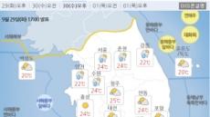 추석 연휴 첫날 중부지방 오후부터 비…천둥·번개 동반