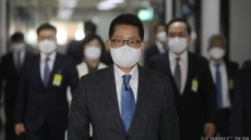 [헤럴드pic] 회의실로 향하는 박지원 국가정보원장