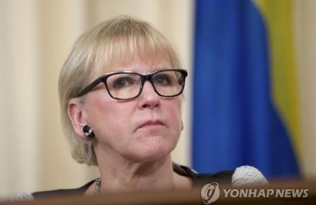 '데이트폭력 피해자' 스웨덴 외교장관, 당찬 페니스트 외교 주목