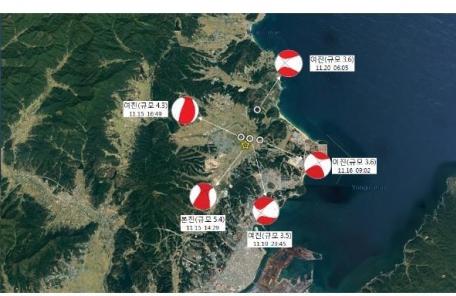 포항 수능종료 6시간만에 지진…2.3규모