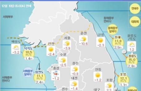[날씨&라이프] 경기ㆍ강원 한파특보…추위 모레 꺾여