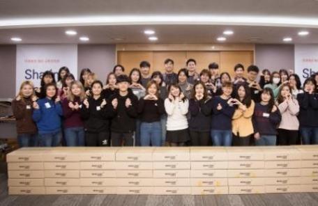 <1단>미래에셋박현주재단, 장학생 나눔 실천