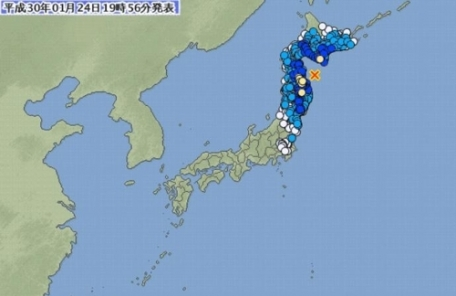 日 아오모리 앞바다서 규모 6.2 지진…쓰나미 우려 없어