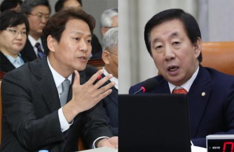 흥분한 김성태, 차분한 임종석…국회 날선 기싸움