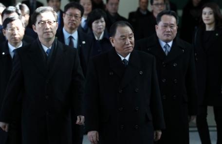 김영철 등 北고위급대표단 방남, 천암함 질문엔 '…'