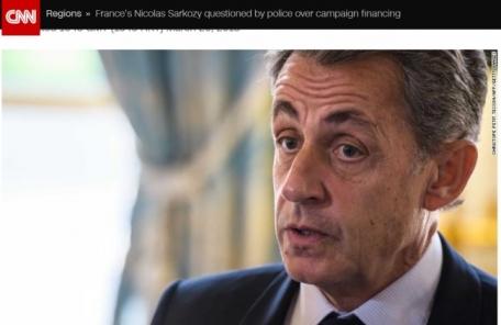 사르코지 전 프랑스 대통령, 부패 혐의로 구금