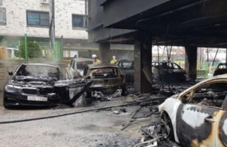 오산 불, 6층짜리 원룸 화재…17명 연기 마셔 부상