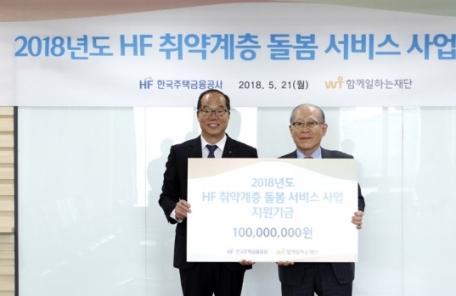 주금공-함께일하는재단 '2018년도 HF 취약계층 돌봄서비스' 협약 체결