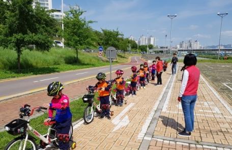 동대문구, 어린이 대상 자전거 안전 체험학습