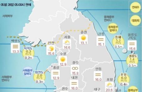 [날씨&라이프] 낮 최고 29℃, 전국 구름 많은 초여름 더위…미세먼지는 '보통'