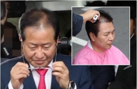 """한국당 삭발 사죄…""""홍준표·김무성 정계 은퇴하라"""""""