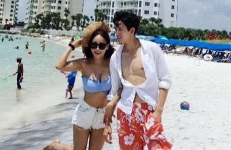 미나·류필립 '몸짱 부부'…美 신혼여행 사진 공개
