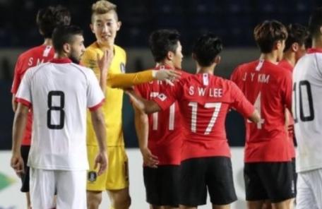 한국, 바레인 6-0 대파…金 레이스 순항