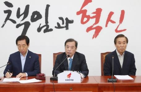 """김병준 """"文대통령 '평화가 경제', 심각한 희망고문"""""""