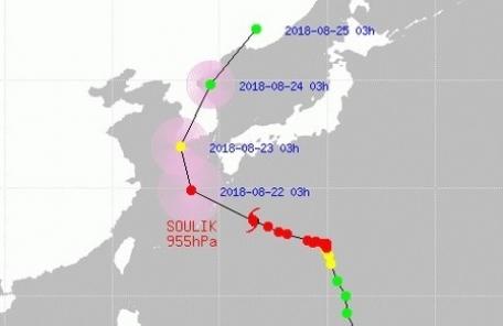 태풍 솔릭 경로, 제주→전남→대전→강원 관통 '초긴장'