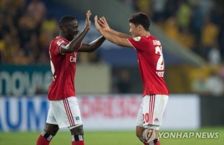 황희찬, 함부르크 데뷔 2경기만에 결승골