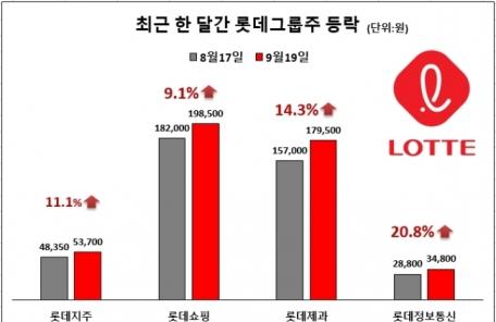 롯데그룹株에 부는 훈풍…자회사 실적회복, IPO 기대감 '불씨'