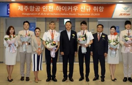 제주항공, 인천~中 하이커우 단독 노선 신규 취항